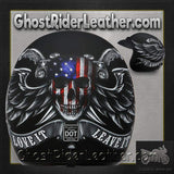DOT Daytona Cruiser Love It Or Leave It Open Face Motorcycle Helmet / SKU GRL-DC6-L-DH-dot motorcycle helmet-Ghost Rider Leather