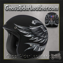 DOT Daytona Cruiser Love It Or Leave It Open Face Motorcycle Helmet / SKU GRL-DC6-L-DH - Ghost Rider Leather