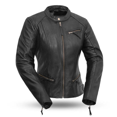 Fashionista - Women's Motorcycle Leather Jacket - FIL108CCBZ - Ghost Rider Leather