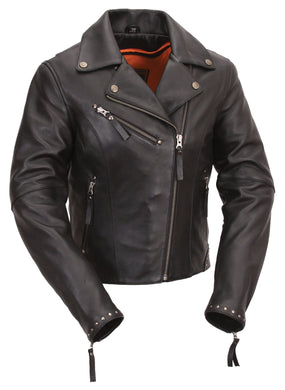 Scarlett Star - Women's Motorcycle Leather Jacket - Ghost Rider Leather