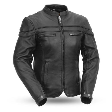 The Maiden - Women's Motorcycle Leather Jacket - Ghost Rider Leather