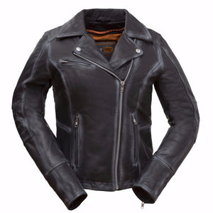 Arcadia - Women's Leather Motorcycle Jacket - FIL186CJZ - Ghost Rider Leather