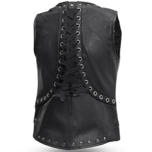 Empress Womens Leather Motorcycle Vest with Rivet Design - FIL575SDM - Ghost Rider Leather