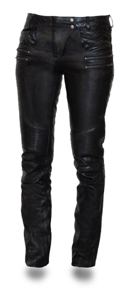 Vixen Women's Leather Pants - FIL711CJ - Ghost Rider Leather