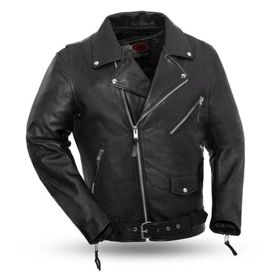 Fillmore - Men's Leather Motorcycle Jacket - FIM208CDLZ - Ghost Rider Leather