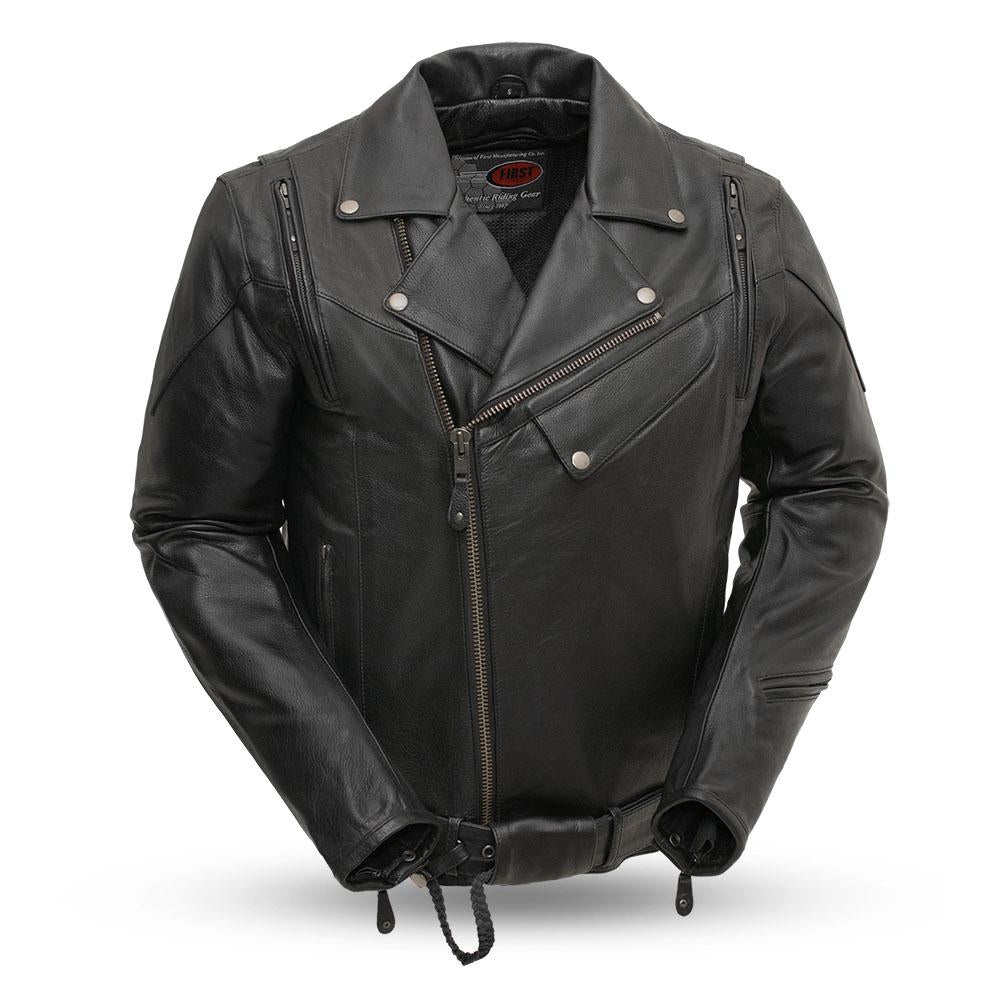 60's New Yorker Mens Leather Motorcycle Jacket - FIM210NOCZ - Ghost Rider Leather