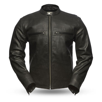 Turbine - Perforated Men's Leather Jacket - Ghost Rider Leather