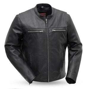 Rocky - Men's Motorcycle Leather Jacket - Ghost Rider Leather