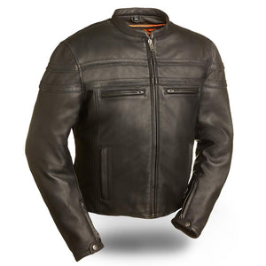 Stakes Racer - Men's Motorcycle Leather Jacket - Ghost Rider Leather