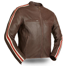 Fast Pace - Men's Vintage Style Racing Motorcycle Leather Jacket - FIM227CTZ - Ghost Rider Leather