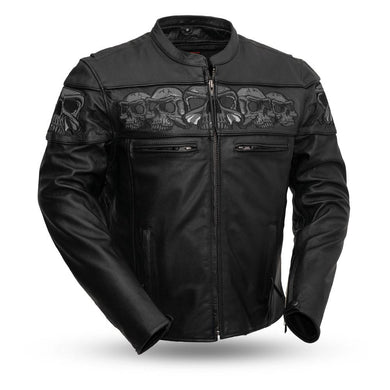Savage Skulls - Men's Motorcycle Leather Jacket - Ghost Rider Leather