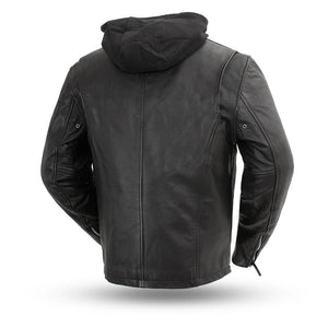Street Cruiser - Men's Motorcycle Leather Jacket - Ghost Rider Leather