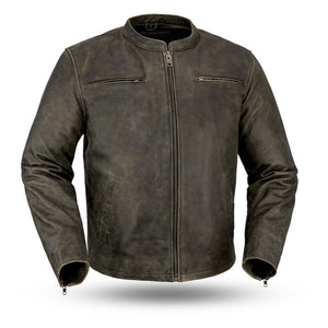 Drifter - Men's Vintage Distressed Scooter Jacket - FIM251CTFYZ - Ghost Rider Leather