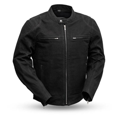 Qualifier - Men's Motorcycle Canvas Jacket - Ghost Rider Leather