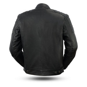 Defender - Men's Leather Scooter Jacket - FIM293CHRZ - Ghost Rider Leather