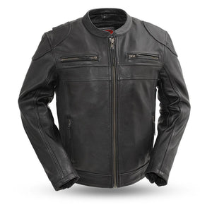Nemesis - Men's Leather Motorcycle Jacket - Ghost Rider Leather