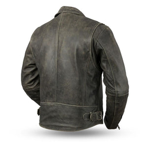 Enforcer - Men's Leather Motorcycle Jacket - SKU GRL-FIM297CTFYZ-FM - Ghost Rider Leather