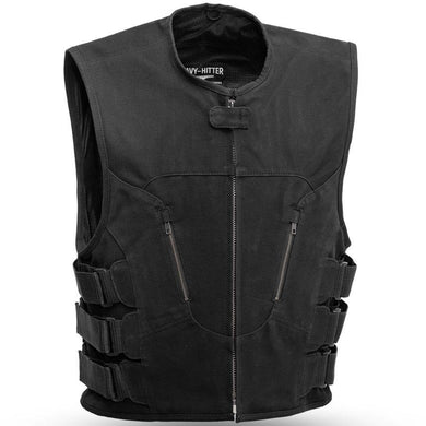 Commando Swat Style Canvas Vest - FIM657CNVS - Ghost Rider Leather