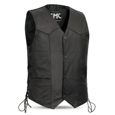 Carbine - Classic Western Vest For Men - Up To Size 8XL - SKU GRL-FMM602BM-FM - Ghost Rider Leather