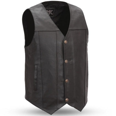 Gun Runner - Men's Leather Western Vest in Sizes Up To 8XL - SKU GRL-FMM611BSF-FM - Ghost Rider Leather