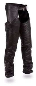 Nomad - Men's Leather Motorcycle Chaps - SKU GRL-FMM830BM-FM - Ghost Rider Leather