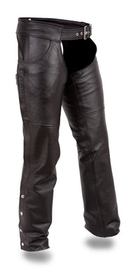 Rally - Unisex Leather Chaps - SKU GRL-FMM835CC-FM - Ghost Rider Leather