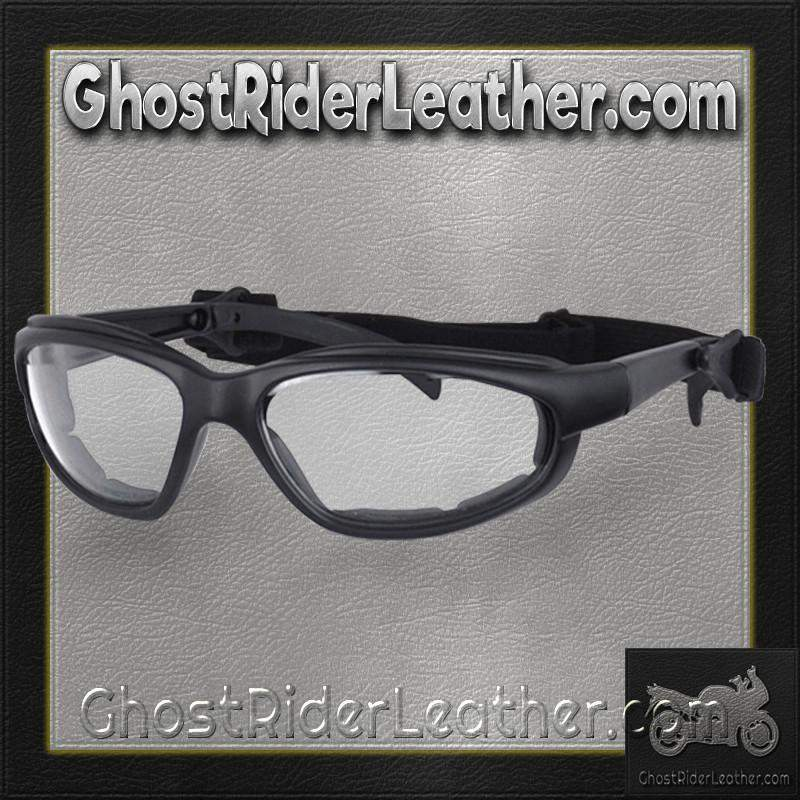 Daytona Goggles in Choice of Clear or Smoke or Yellow Lens / SKU GRL-G-C-S-Y-DH-goggles-Ghost Rider Leather