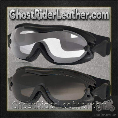 Daytona Goggles Fit Over Eyeglasses - Clear or Smoke / SKU GRL-G-FOG-C-S-DH - Ghost Rider Leather