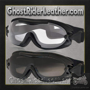 Daytona Goggles Fit Over Eyeglasses - Clear or Smoke / SKU GRL-G-FOG-C-S-DH-goggles-Ghost Rider Leather