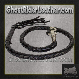 Get Back Whip in Black Leather - Motorcycle Accessories - SKU GRL-GBW1-11-DL-get back whip-Ghost Rider Leather