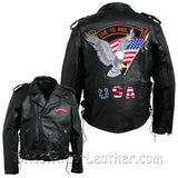 Diamond Plate Mens Hand Sewn Pebble Grain Genuine Leather Motorcycle Jacket / SKU GRL-GFMOTLTR-BN-leather jacket-Ghost Rider Leather
