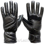 Lined Leather Motorcycle Riding Gloves For Colder Weather - SKU GRL-GG18-DL