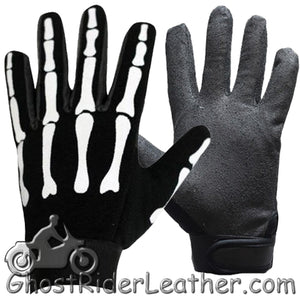 Skeleton Mechanics Gloves / Similar to Storage Wars Barry Weiss / SKU GRL-GL2045-DL-skeleton gloves-Ghost Rider Leather