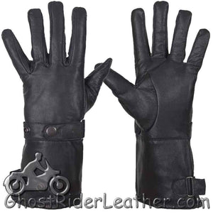 Premium Cowhide Long Leather Summer Riding Gauntlet Gloves - SKU GRL-GL2064-11N-DL - Ghost Rider Leather