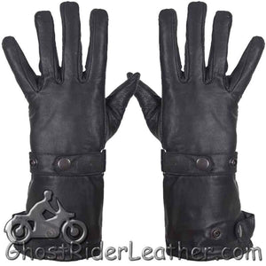 Premium Cowhide Long Leather Summer Riding Gauntlet Gloves - SKU GRL-GL2064-11N-DL