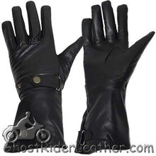 Long Leather Summer Riding Gauntlet Gloves - SKU GRL-GL2064-DL - Ghost Rider Leather