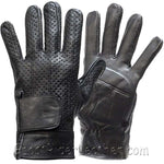 Full Finger Leather Riding Gloves with Air Vents And Gel Pads - SKU GRL-GL2084-DL