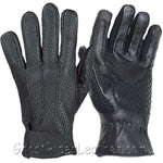 Summer Time Leather Riding Gloves with Air Vents And Gel Pads - SKU GRL-GL2093-DL