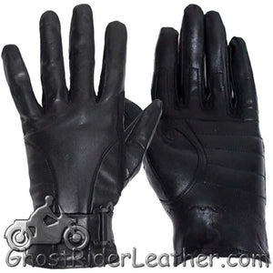 Full Finger Leather Riding Gloves with Air Vents - SKU GRL-GL2095-DL
