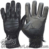 Motorcycle Riding Gloves With Gel Palms - Unisex - SKU GRL-GL2096-DL