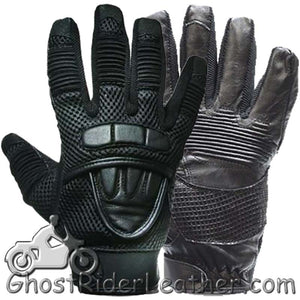 Premium Leather Motorcycle Gloves with Double Knuckle -SKU GRL-GLZ41-DL