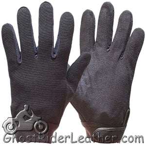 Black Mechanics Gloves / SKU GRL-GLZ50-DL - Ghost Rider Leather