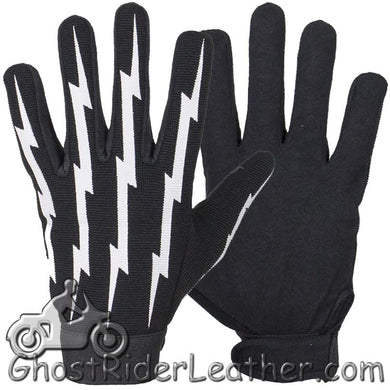 Mechanics Gloves With Lightning Bolts - SKU GRL-GLZ88-DL
