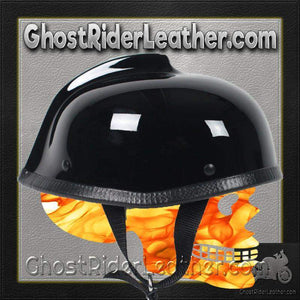 Gladiator Novelty Motorcycle Helmet in Gloss Black / SKU GRL-GLAD-NOV-HI - Ghost Rider Leather