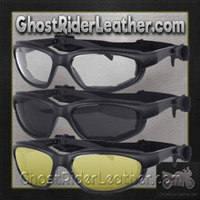 Daytona Goggles in Choice of Clear or Smoke or Yellow Lens - SKU GRL-G-C-S-Y-DH - Ghost Rider Leather