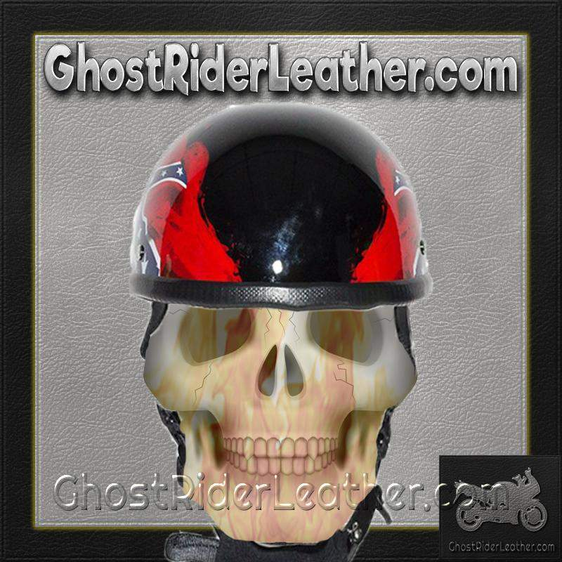 Rebel / Confederate Flag Novelty Motorcycle Helmet / SKU GRL-H401-REBEL-DL