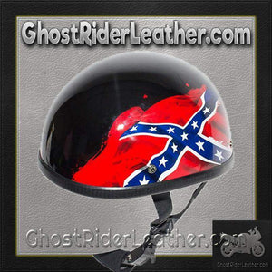 Rebel / Confederate Flag Novelty Motorcycle Helmet / SKU GRL-H401-REBEL-DL-novelty motorcycle helmet-Ghost Rider Leather
