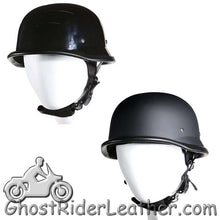 German Novelty Motorcycle Helmet Flat or Gloss Black - SKU GRL-H402-H502-11-DL