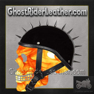 Spiked Gladiator Novelty Motorcycle Helmet in Gloss or Flat Black / SKU GRL-H403-H503-02-DL-novelty motorcycle helmet-Ghost Rider Leather