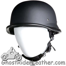 German Novelty Motorcycle Helmet Flat or Gloss Black - SKU GRL-H402-H502-11-DL - Ghost Rider Leather